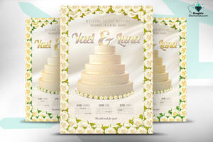 Wedding Flyer Template by GraphicDiamonds