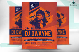 Dj Flyer Template PSD by GraphicDiamonds