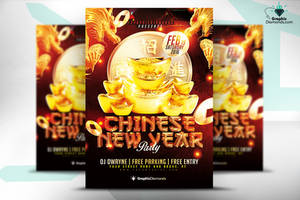 Chinese New Year Flyer PSD by GraphicDiamonds
