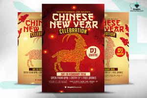 Chinese New Year Flyer Celebration by GraphicDiamonds