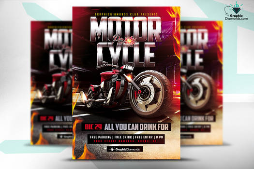 Motorcycle Flyer Party