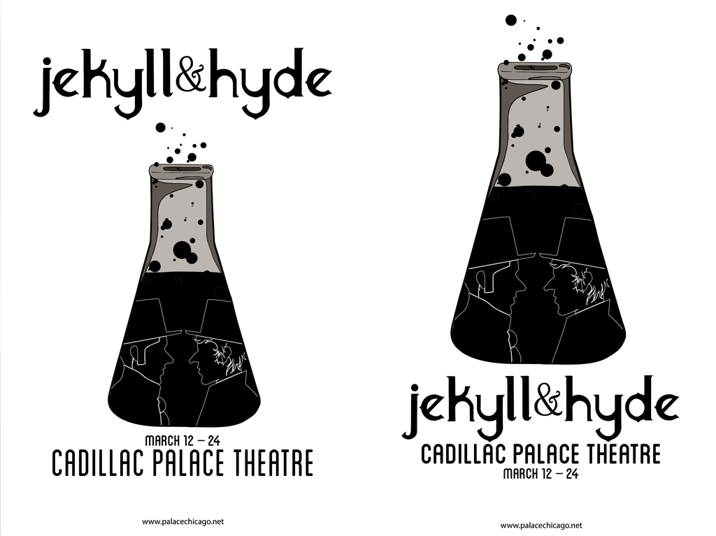 Jekyll and hyde theatre poster by heyitstantan