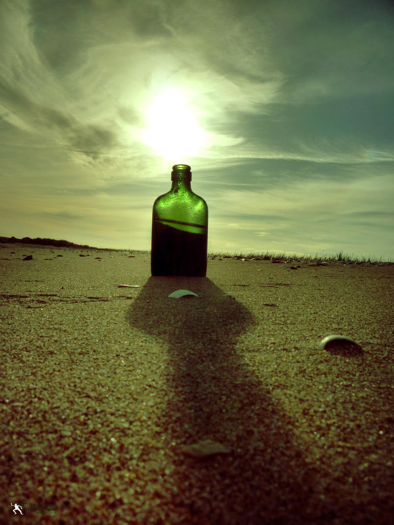 Beached bottle by kilted1ecosse