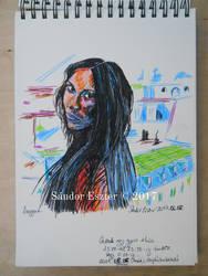 Just a sketch - Anggun by PilgrimMaiden
