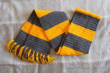 Vintage Hufflepuff Crochet Shawl by PilgrimMaiden