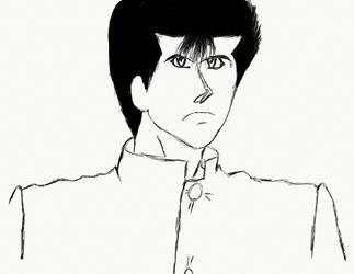 Yu Yu Hakusho : Yusuke WIP by nishad