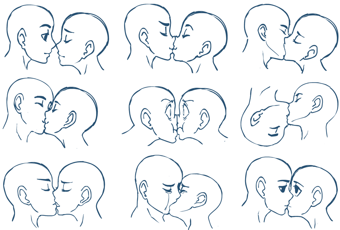 Anime Characters Kissing Drawing : Anime kisses by sonicrocksmysocks