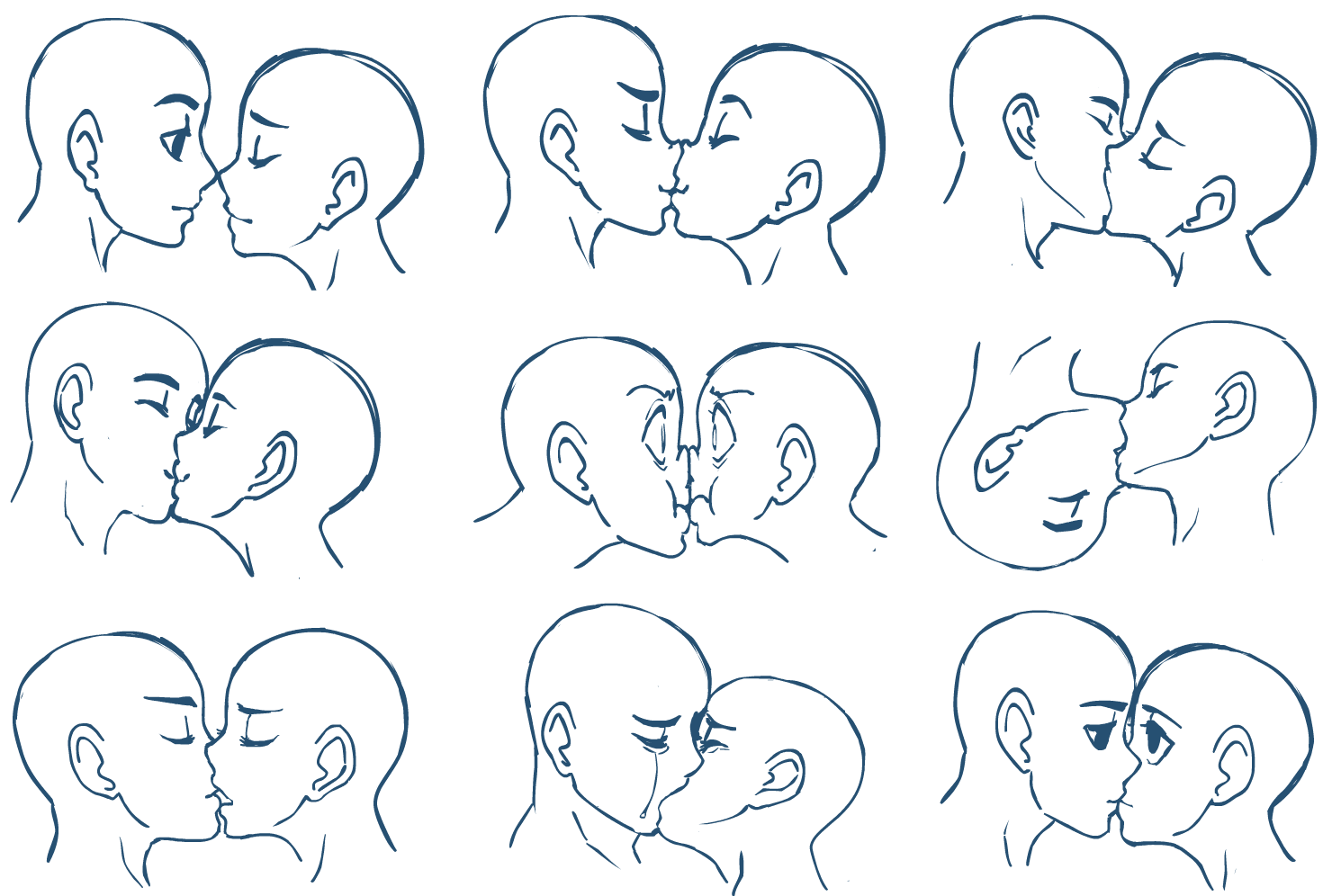 How to draw people kissing by markcrilley on deviantart anime kisses by sonicrocksmysocks ccuart Choice Image