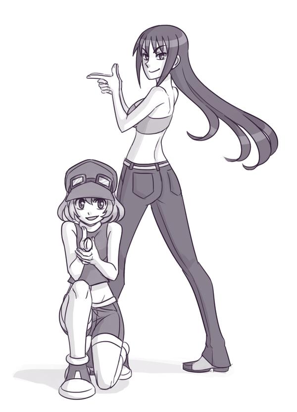 Commission - Sadie + Miyami by SonicRocksMySocks