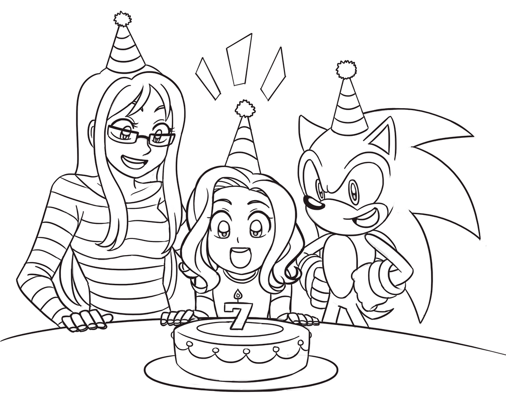 Commission Birthday Girl By Sonicrocksmysocks On Deviantart Animated Birthday Card Drawing With Color