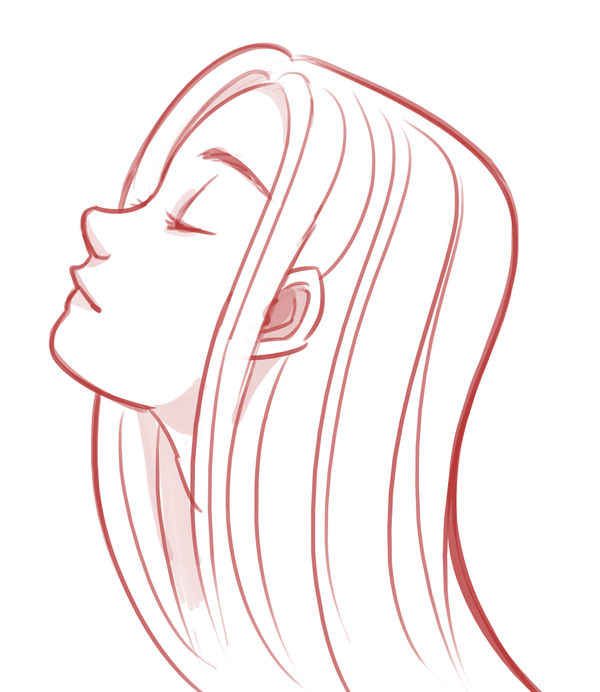 Line Drawing Of Face Profile : Girl profile by sonicrocksmysocks on deviantart
