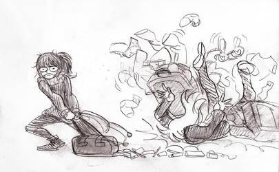 Airplane Sketch Dump - The Struggle by SonicRocksMySocks