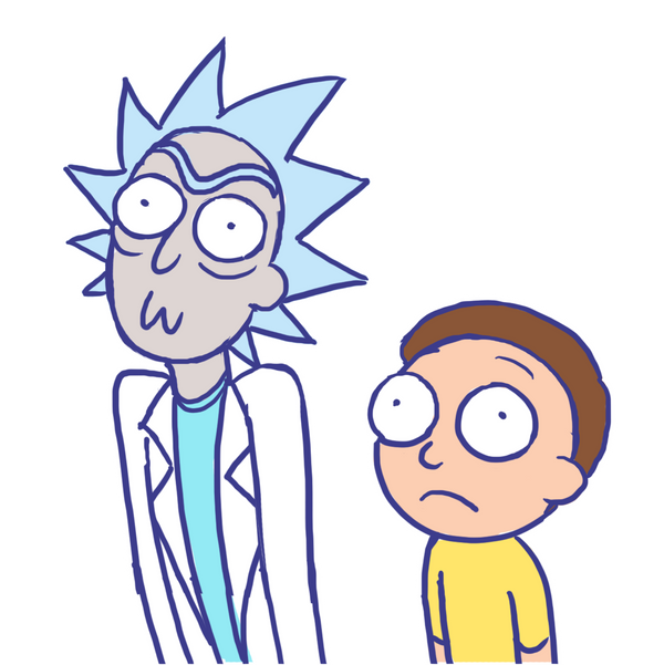 Line Design Art With Mr E : Rick and morty by sonicrocksmysocks on deviantart