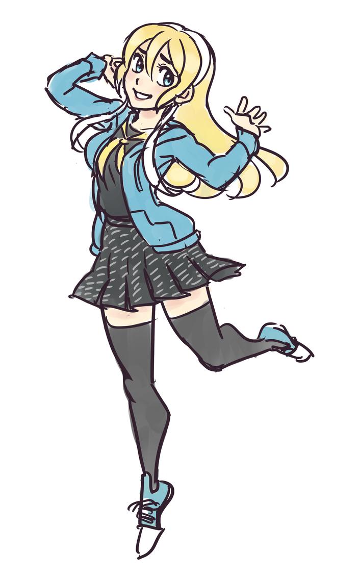 Yasogami Girl by SonicRocksMySocks