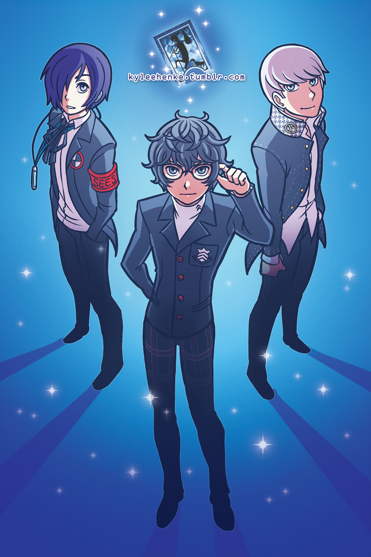 Persona Protags by SonicRocksMySocks