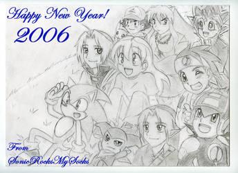 Happy New Year 2006 by SonicRocksMySocks