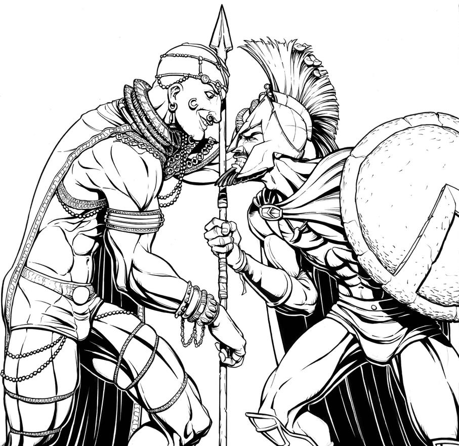 Warriors Of The Dawn Aka The Proxy Soldiers 2017: 300 Inks By JoniGodoy On DeviantArt