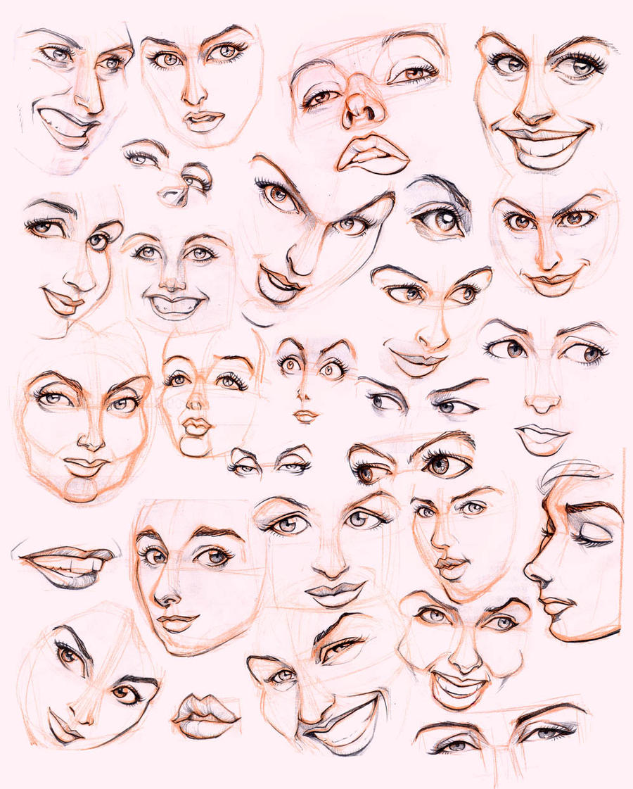 Character Design Face Shapes : Women s faces by jonigodoy on deviantart