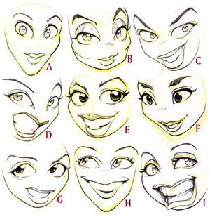 Female Cartoon Faces