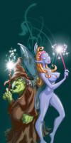 Witch VS Fairy by JoniGodoy