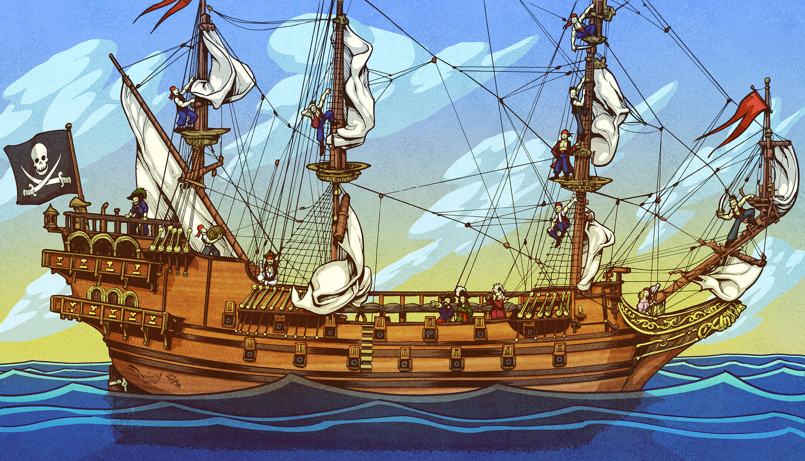 pirate ship by amarynceus on deviantart