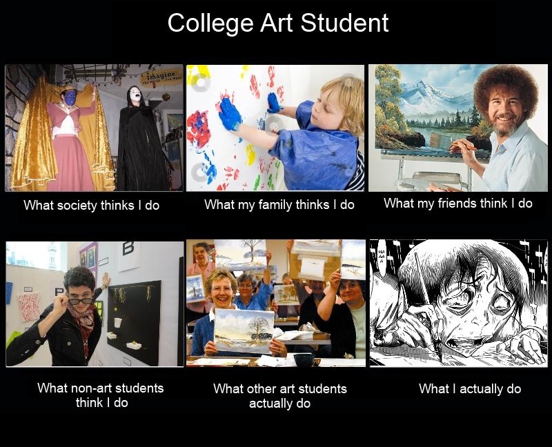 Life as a college art student by RandomKooldude