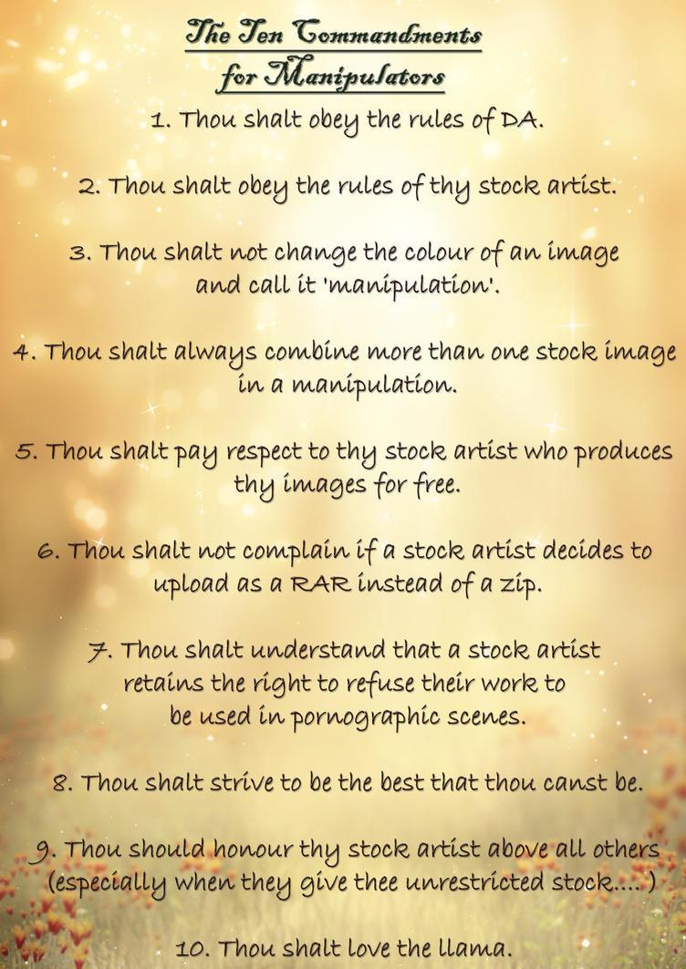 My ten commandments by EverildWolfden