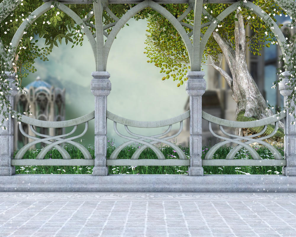 Celtic balcony 1 background by everildwolfden on deviantart for Balcony view wallpaper