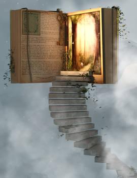 Fantasy book premade background