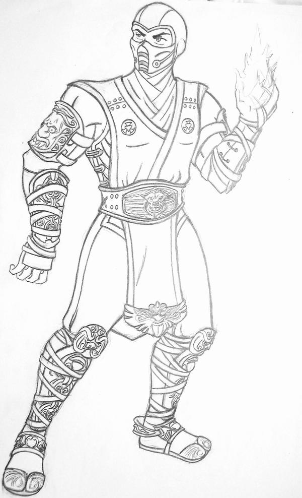 Sub Zero Mortal Kombat Coloring