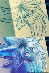 Banshee Pencil Sketch by nanzdraws