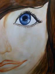 Girl Face watercolor by KimariLz