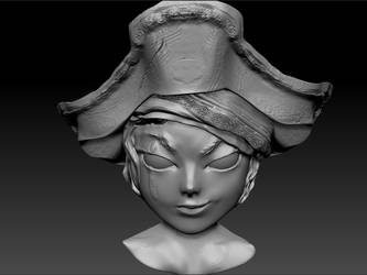 Anime Pirate Bust by KimariLz