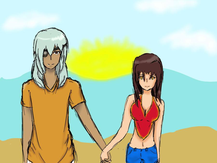 Angel and Sakuma: Inazuma Eleven by TheArtistTiff
