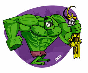 Hulk y sus cosas by zarzo