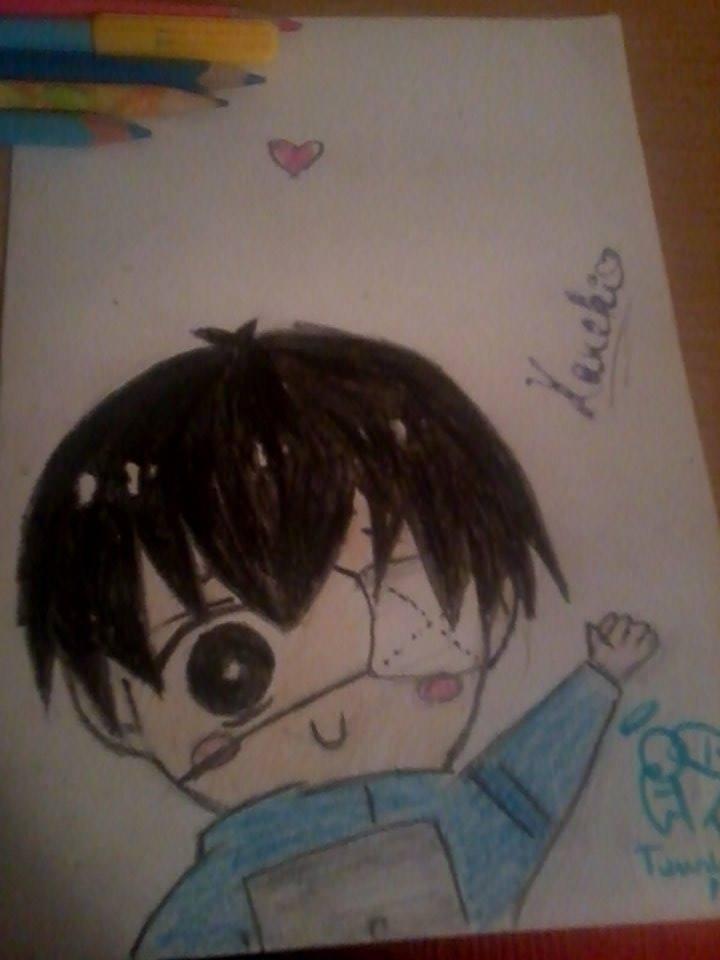 how to draw kaneki ken chibi