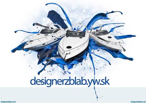 Boat Splash PSD