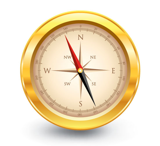 Vector Compass in Illustrator