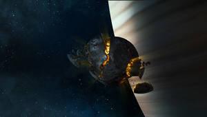 Create an Exploding Moon Orbit