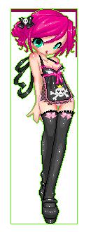 Apron-chan mascot Momo by leviathen