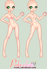 Pokemon Neon Girl Trainer Base by leviathen