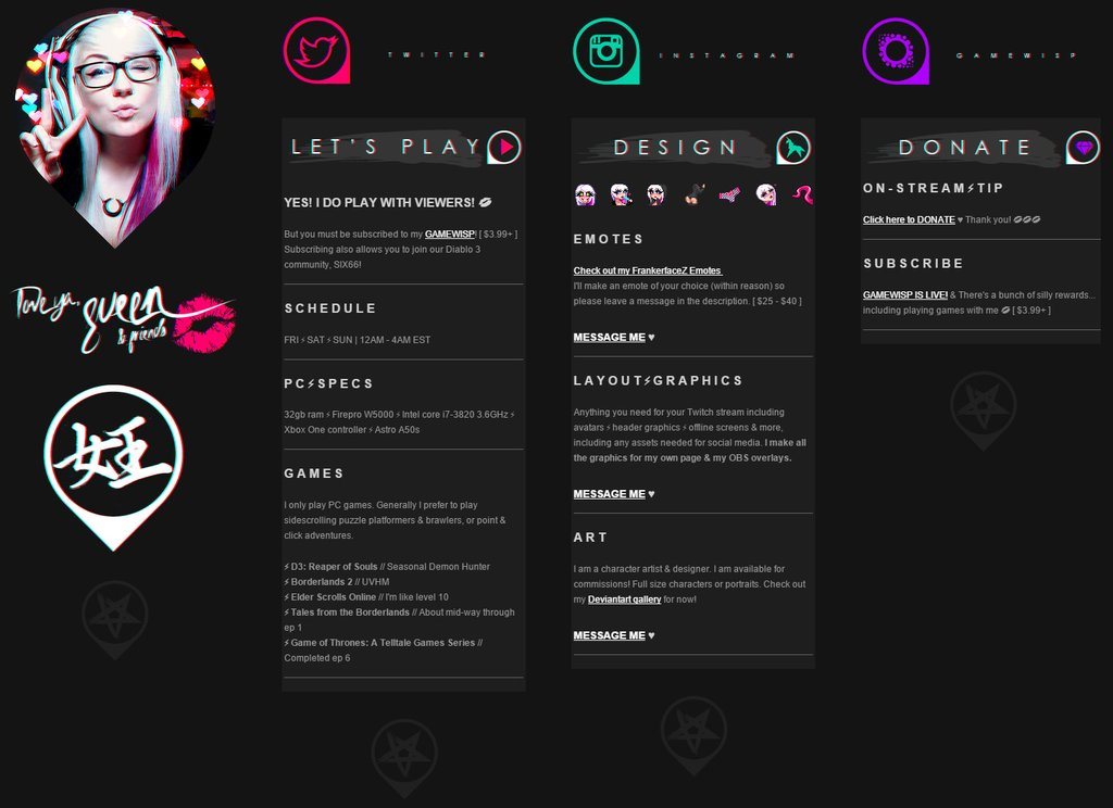 My twitch page by leviathen