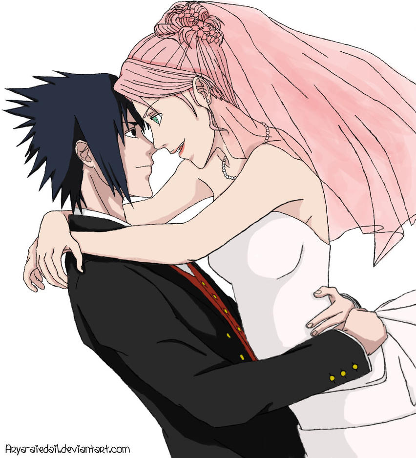 Sasuke Sakura-Wedding Day(colored) by DestinysSky on ...