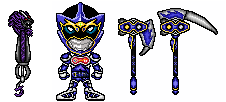 Kamen Rider Makai - LV 2 and weapons by helder666