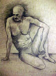 Nude pencil drawing by gregpaul