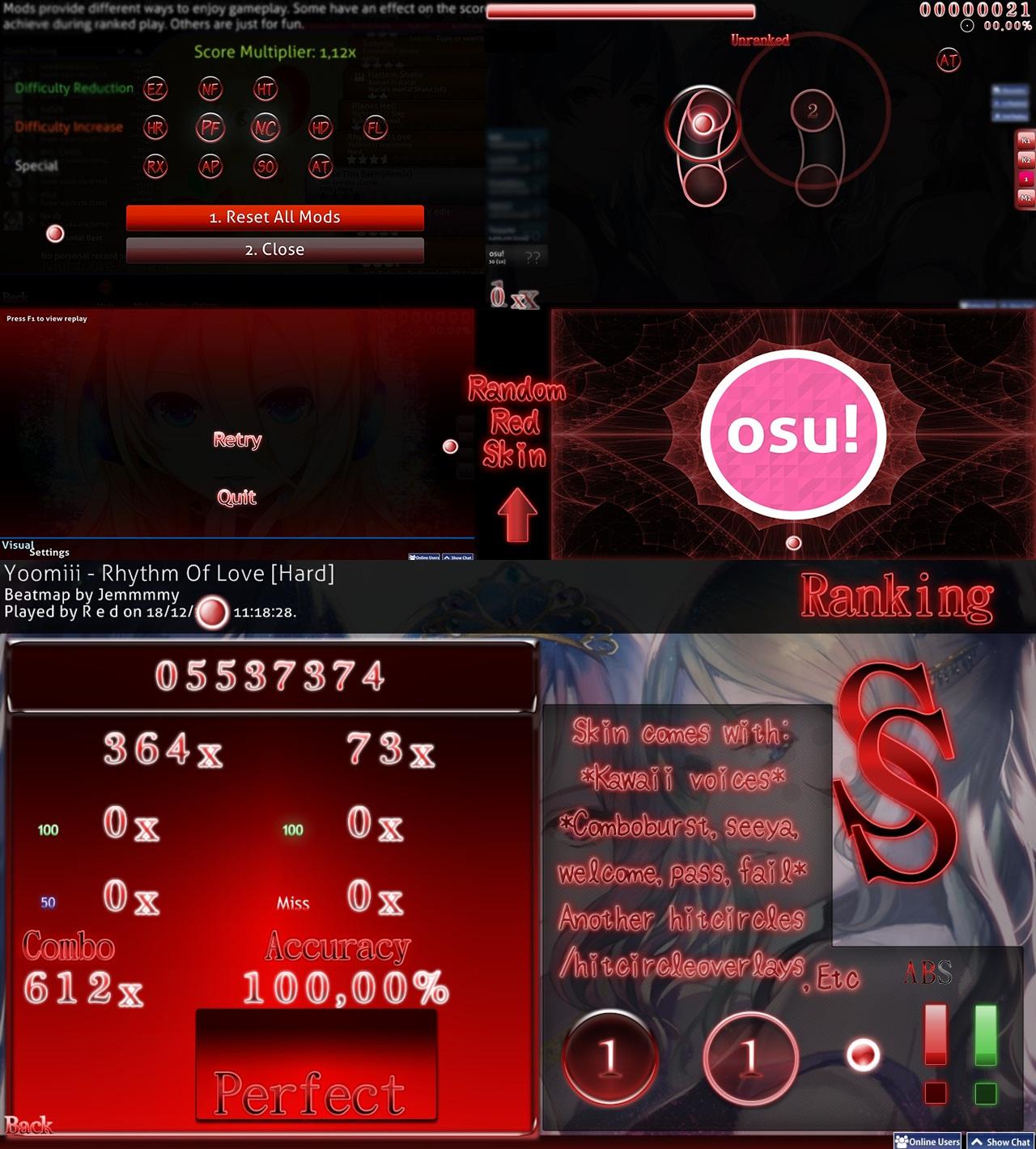 Osu black skin | Osu skins with good cursortrail : osugame  2019-03-01