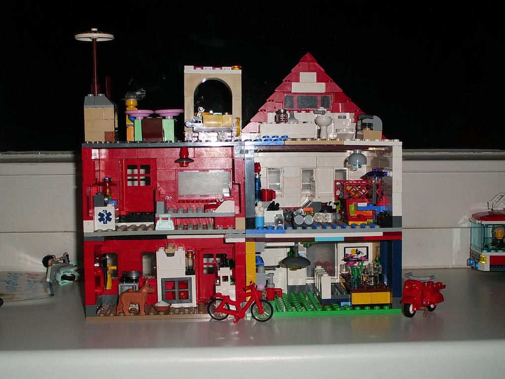 Lego House American Style And Red House Interior By Corneliusarts On Deviantart