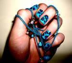 Blue Animal Print leopard Nails