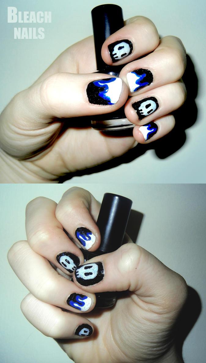 Bleach Ichigo Nails By RoxysSlushPuppie
