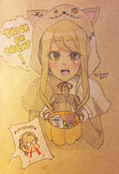 Gift: Trick or treat! by iambunnie